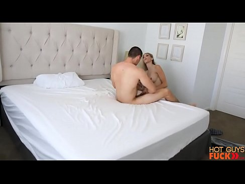 Naked hot guy fucking a girl in bed room
