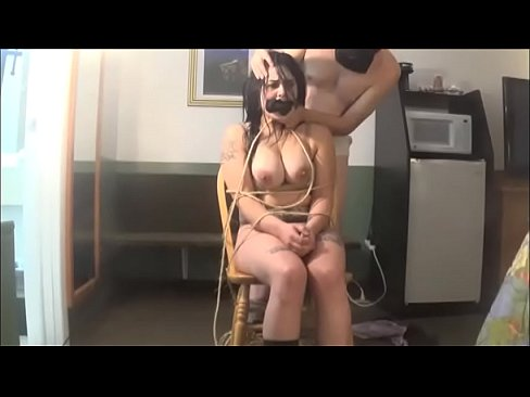 Girl tied up naked pain
