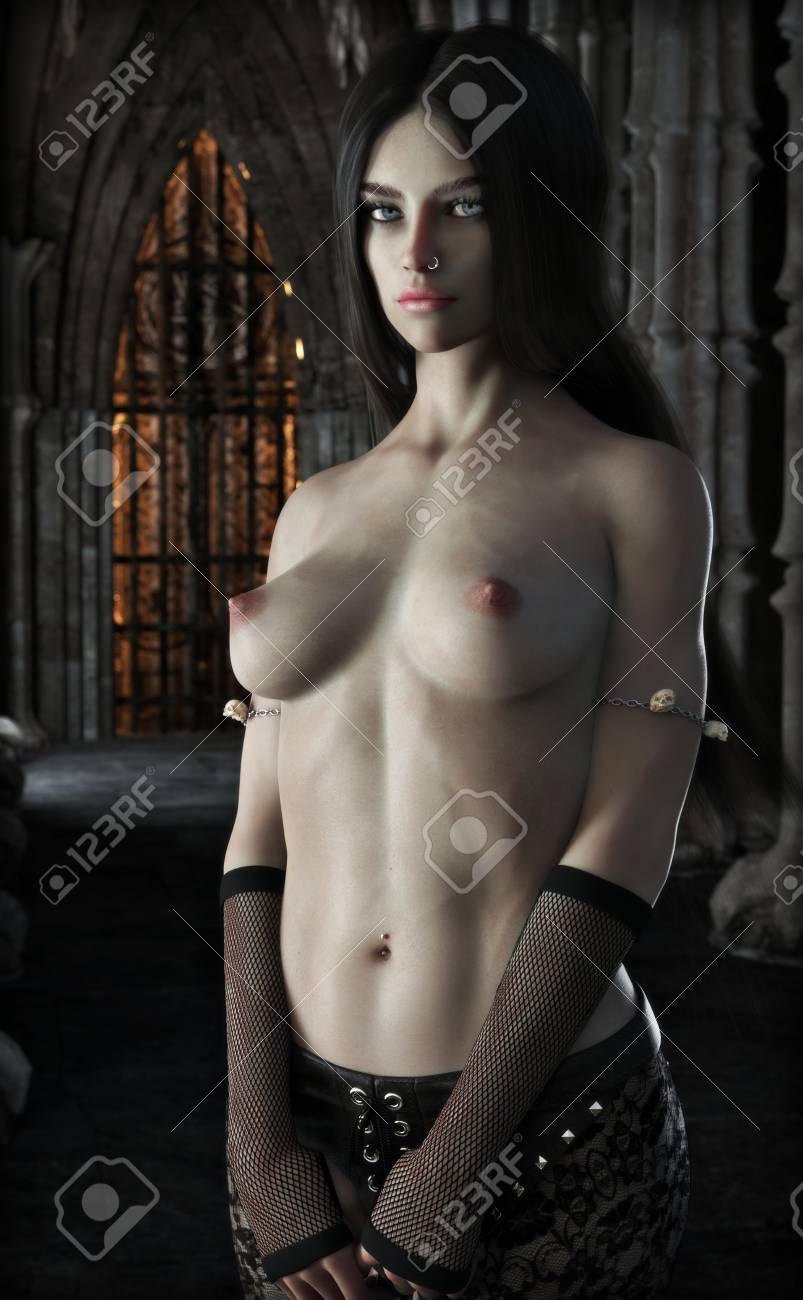 Sexy young nude vampire girl